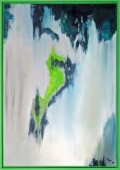 Nr. 807 Acryl auf Leinwand mit Schattenfuge (70x100)