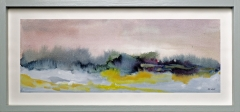 Nr. 102 Aquarell hinter  Glas und mit Holzrahmen (46x22)