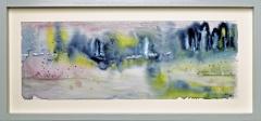 Nr. 103 Aquarell hinter  Glas und mit Holzrahmen (46x22)