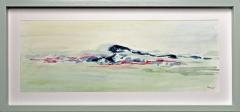 Nr. 105 Aquarell hinter  Glas und mit Holzrahmen (46x22)
